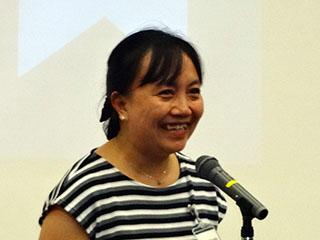 Guest speaker Hazel Gonzales